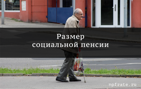 Размер социальной пенсии
