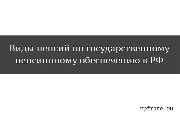 Виды пенсий по государственному пенсионному обеспечению в РФ