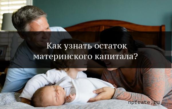 Как узнать остаток материнского капитала?